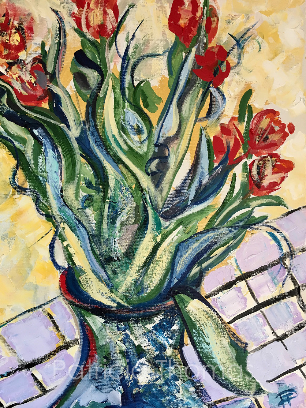 REd Tulips and Blue Leaves.jpg
