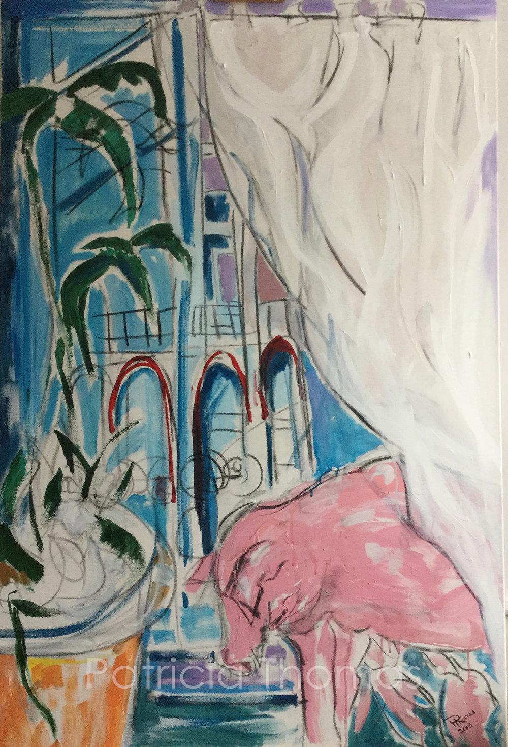 """Pig in Paris  60 x 40"""""""