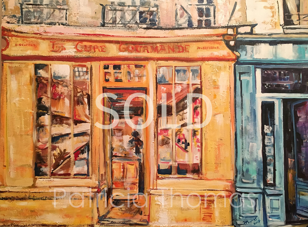 """Storefronts Isle St. Louis  48 x 36"""""""