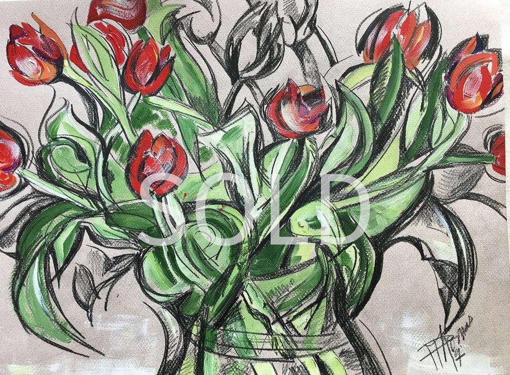 Rhythm of Tulip Leaves-SOLD.jpg