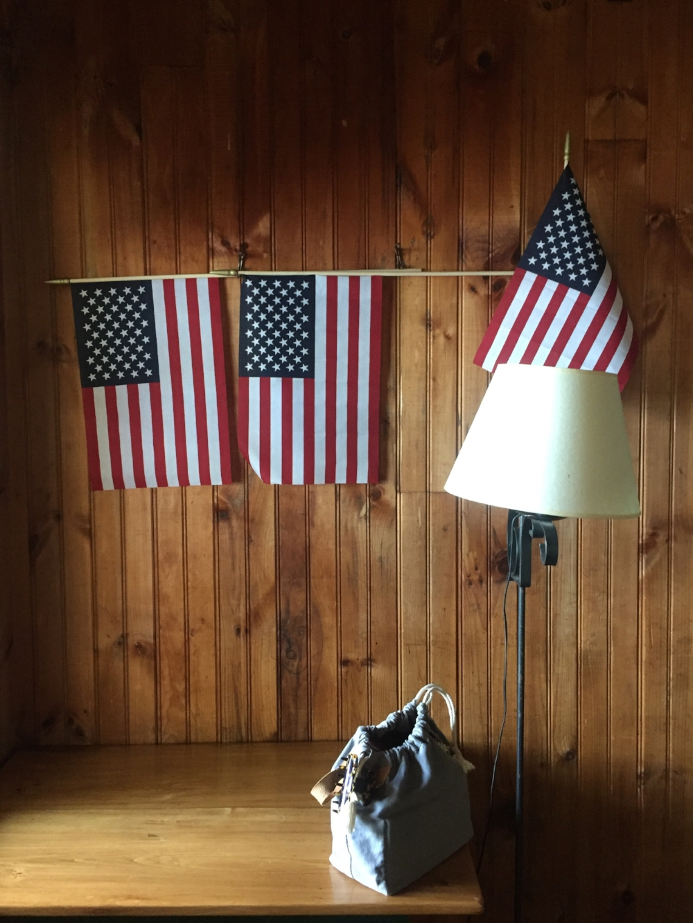 my cabin was also very patriotic