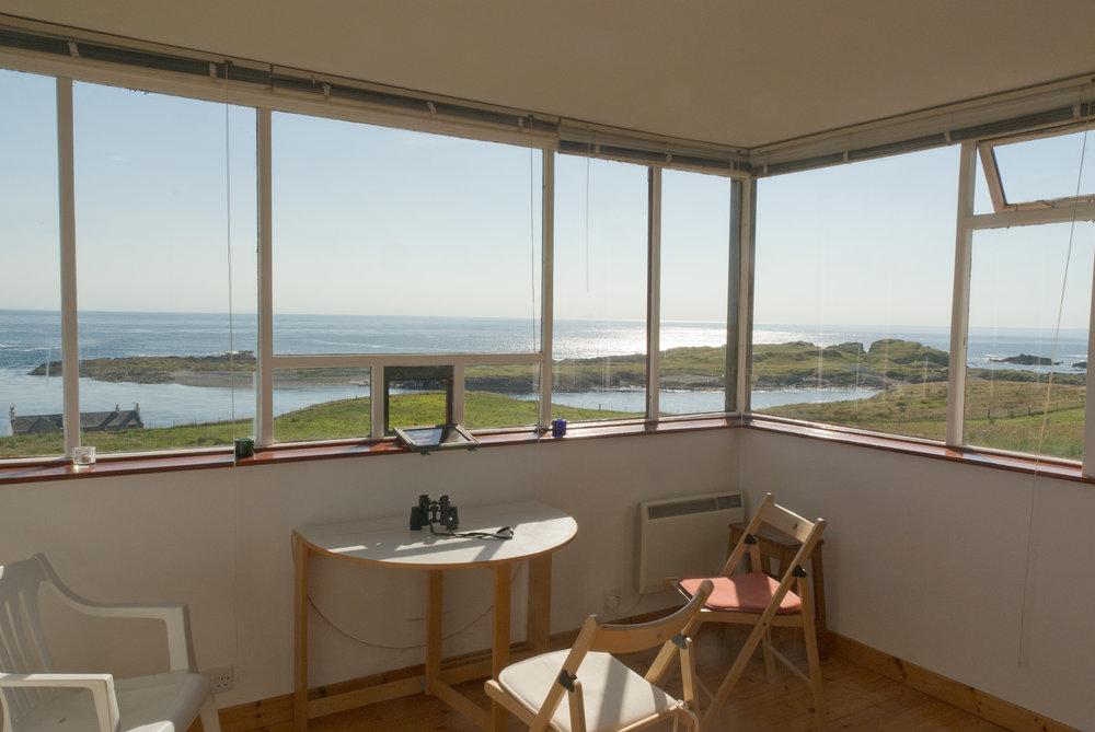 Verdens beste skrivehule finner du i et gammelt kystvakttårn på den skotske whiskyøya Islay.