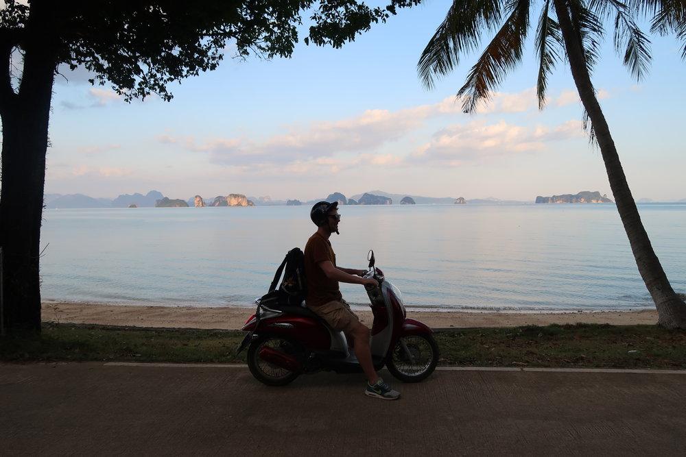 ride a scooter Ko Yao Noi