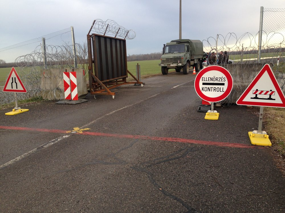 Photo by David L. Glotzer taken at the militerized border between Croatia and Hungary, January 2016.