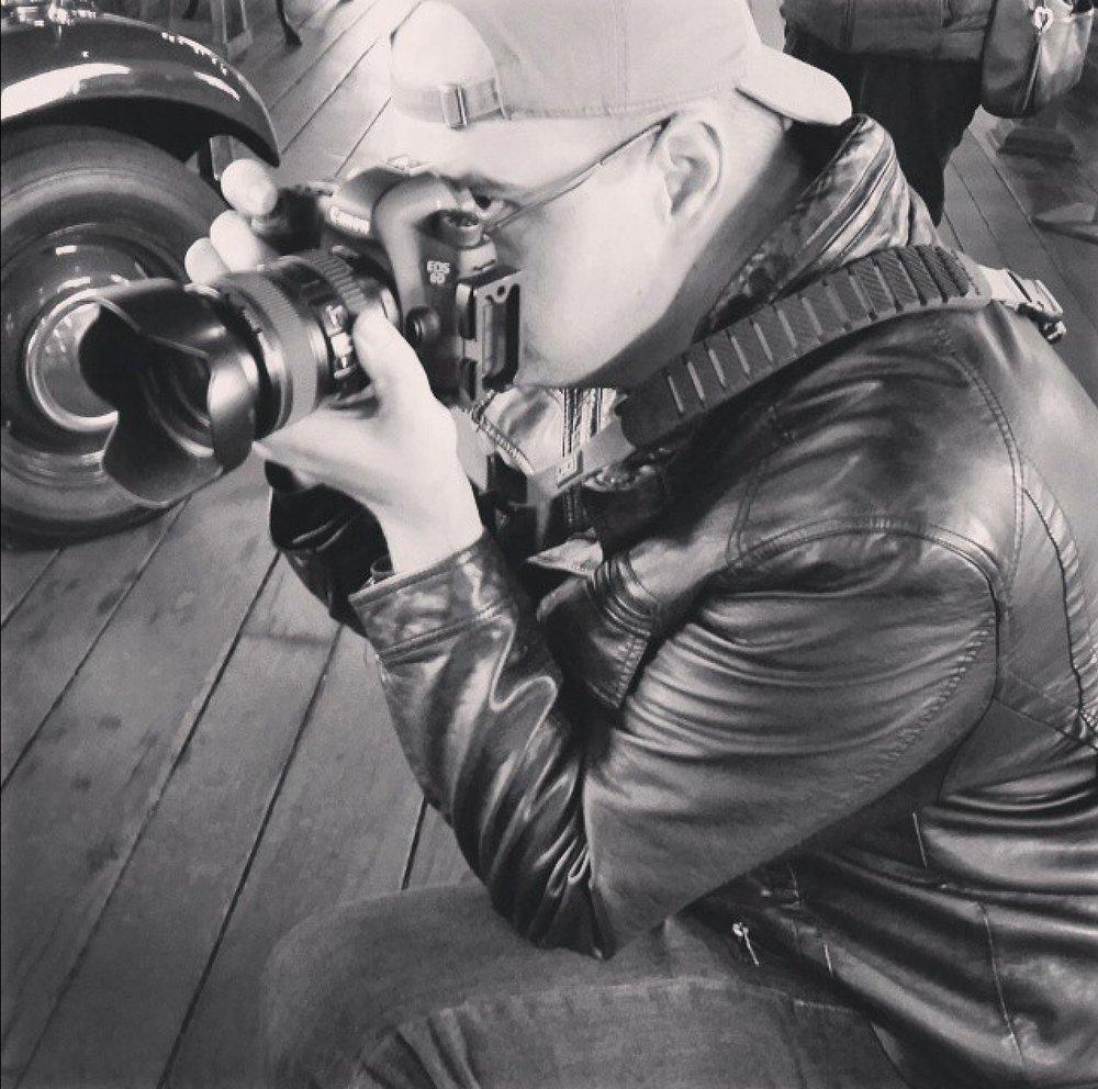 Victor Ellison shooting antique cars.