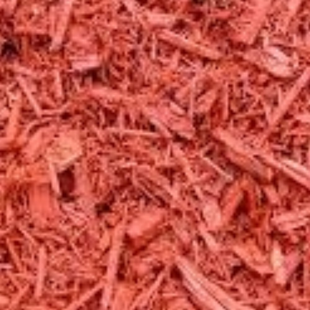 Red Mulch:   $35.00 a Yard Adds a distinctive design element to your landscaping ! (Red is not organic) -