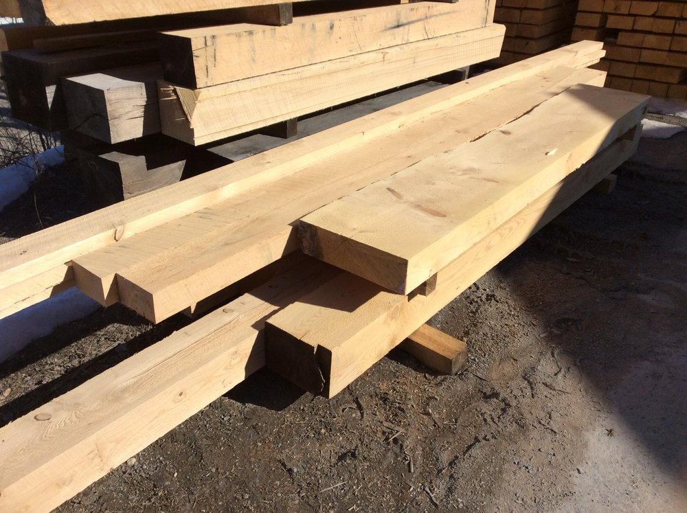 Rough Cut Hemlock Beams