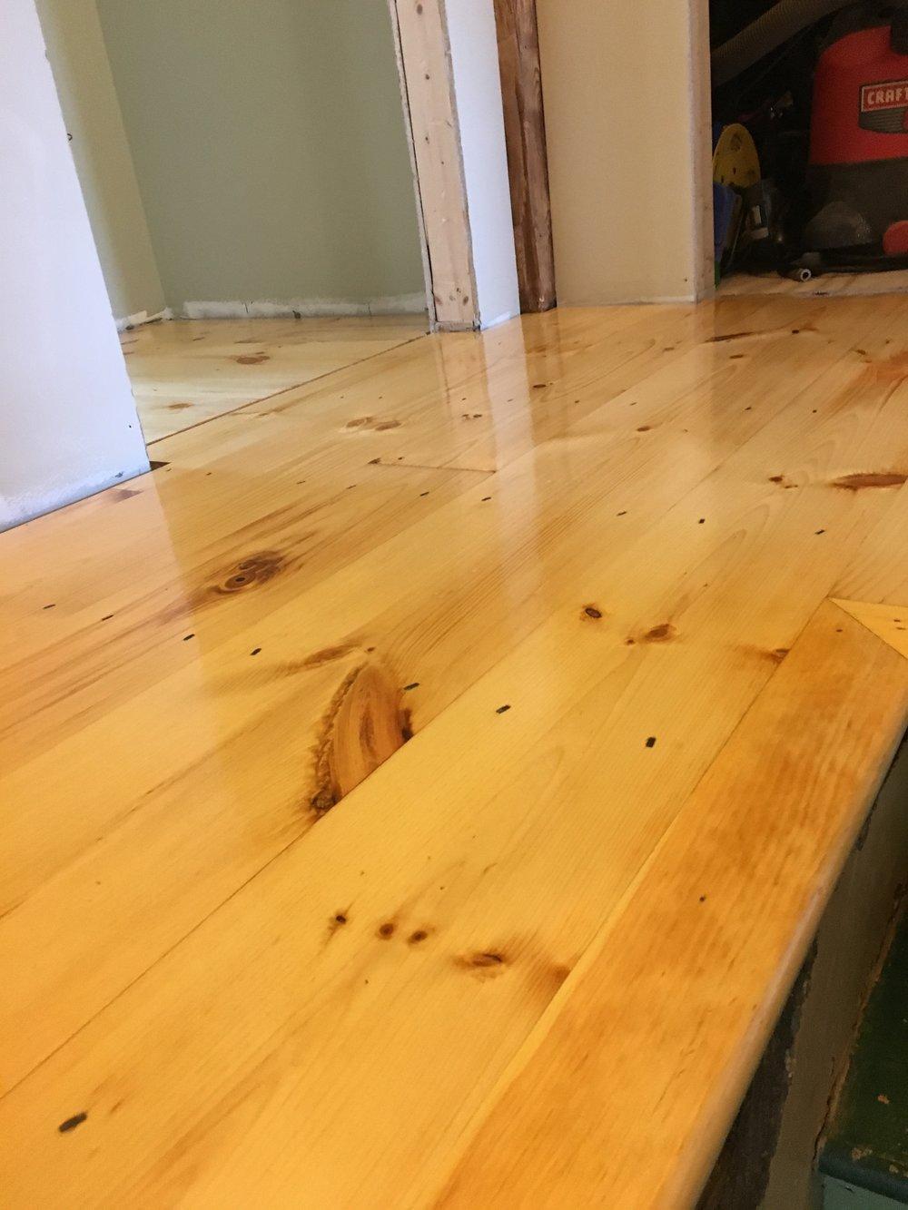 Wide Pine Floor Project