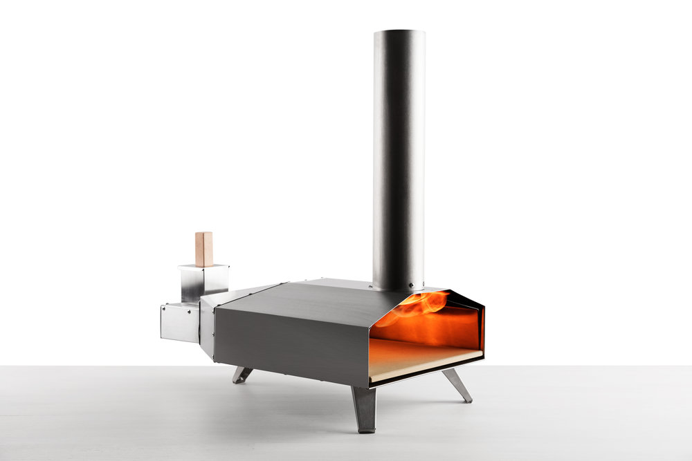 Uuni Pizza Oven $299    Uuni 3 is the definitive tool for your garden or outdoor kitchen. It's designed specifically to take the cost, bulk and hassle out of using a wood fire oven.    Uuni 3 reaches 932F in just 10 minutes and can cook an authentic wood-fired pizza in an incredible 60 seconds. The patent-pending oven runs on wood pellets which are very energy-dense and inexpensive.