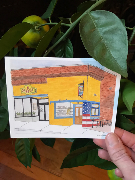 Salsas postcards are available at The Asheville Holiday Market, and from me!