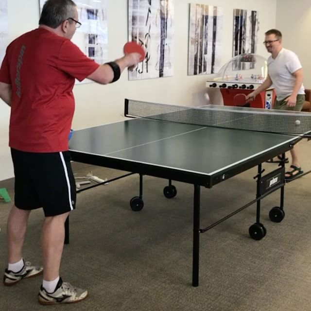 Ping pong at work; why not? 🏓