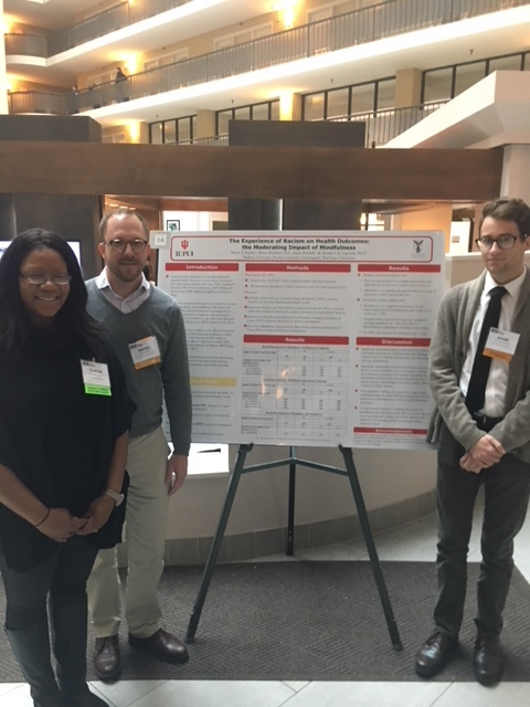Undergraduate students Micah Faidley and Adam Barnhill presented their research with Dr. Zapolski's mentorship