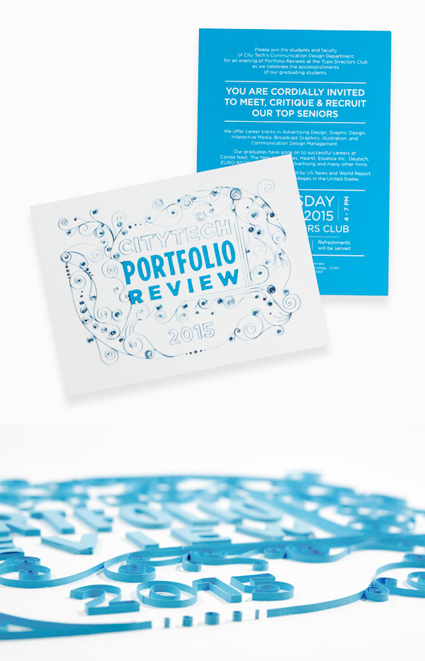 Portfolio Review 2015 invitation card  Client: CUNY New York City College of Technology
