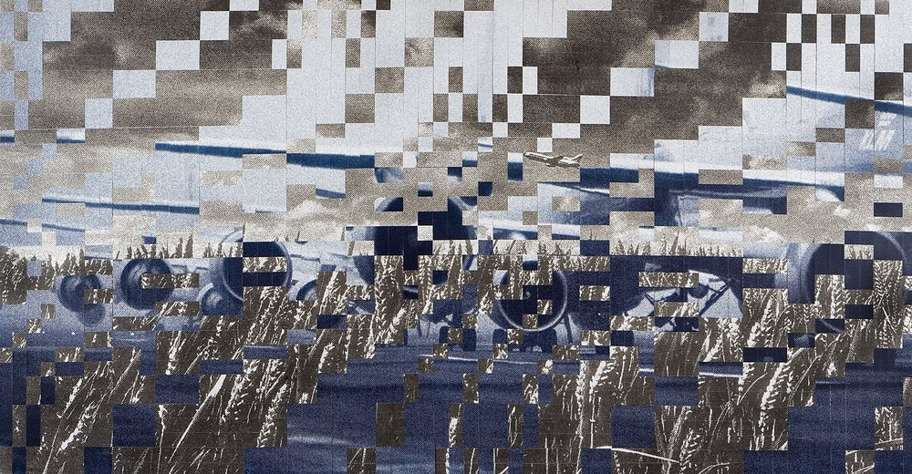 Dutch landscape no. 6, printed and woven canvas, 145 x 250 cm