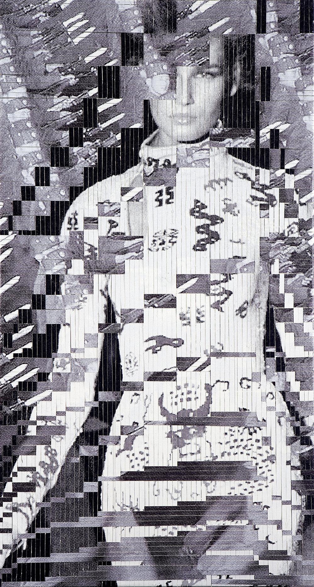 No.4, printed woven canvas, 225 x 118 cm