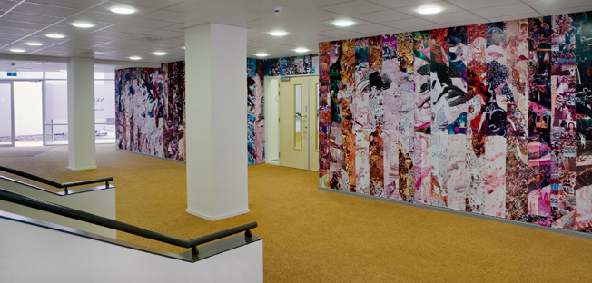 Tribute to Life, 2008,   260 x 2500 cm, collage of photographes, commissioned by NKI - AVL, Netherland