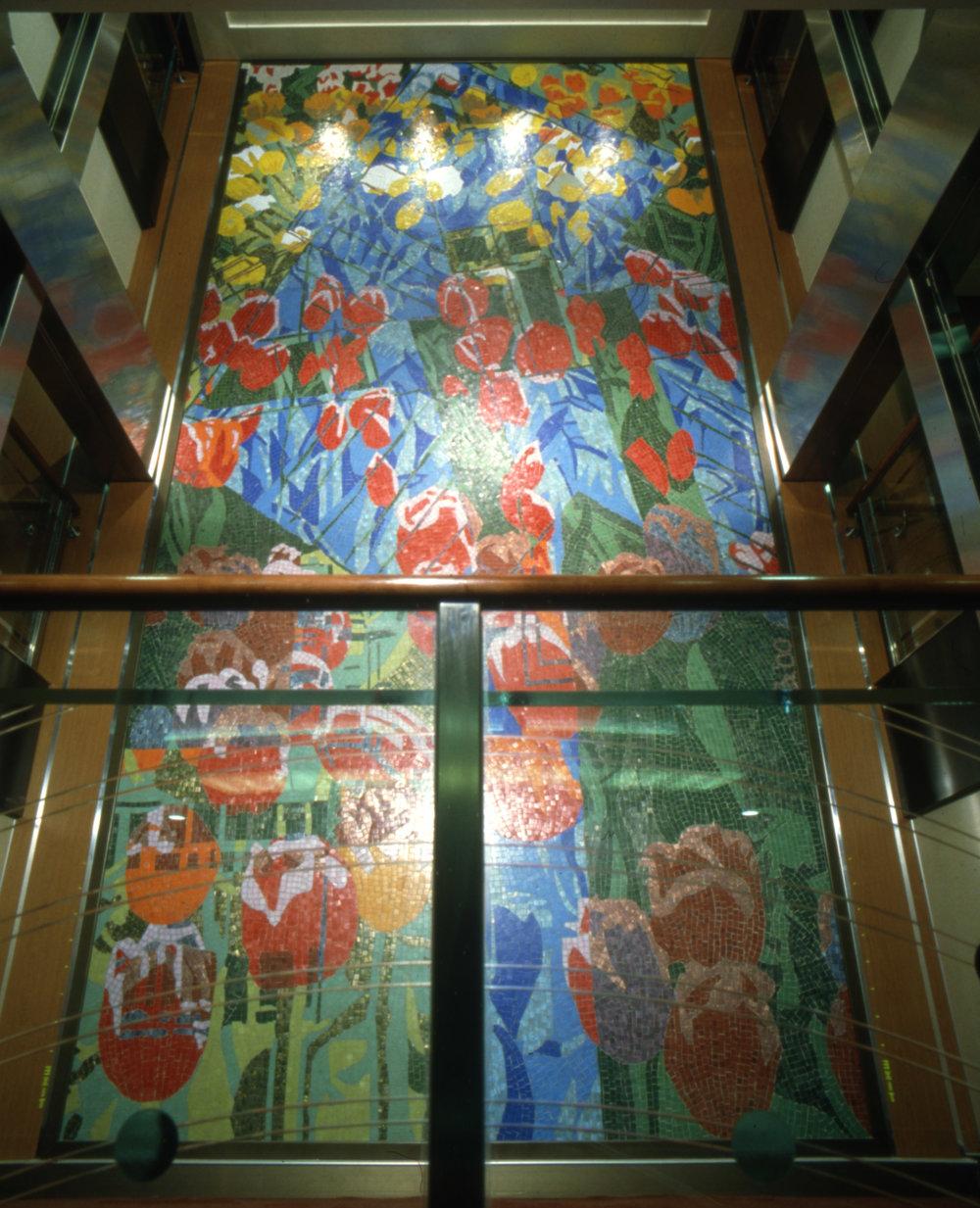 Mosaic wall Pride of Rotterdam, 560 x 275 cm
