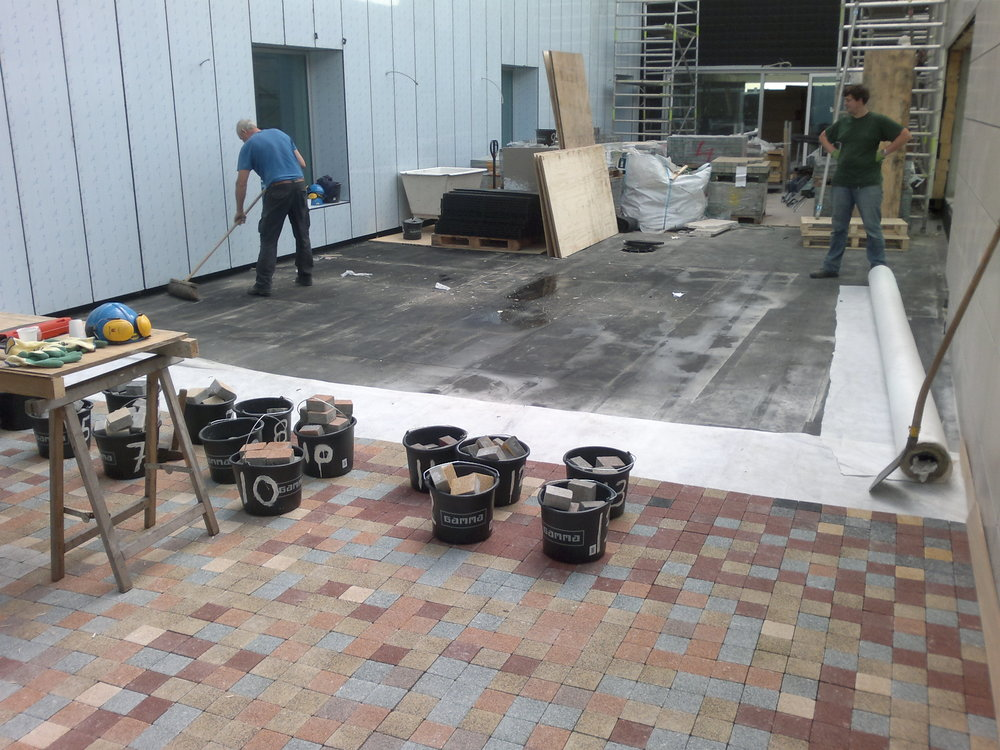 Production process/installation of the terrace