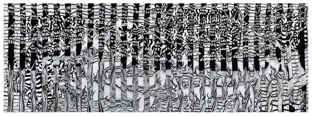 Sanur, jacquard woven, 143 x 389 cm