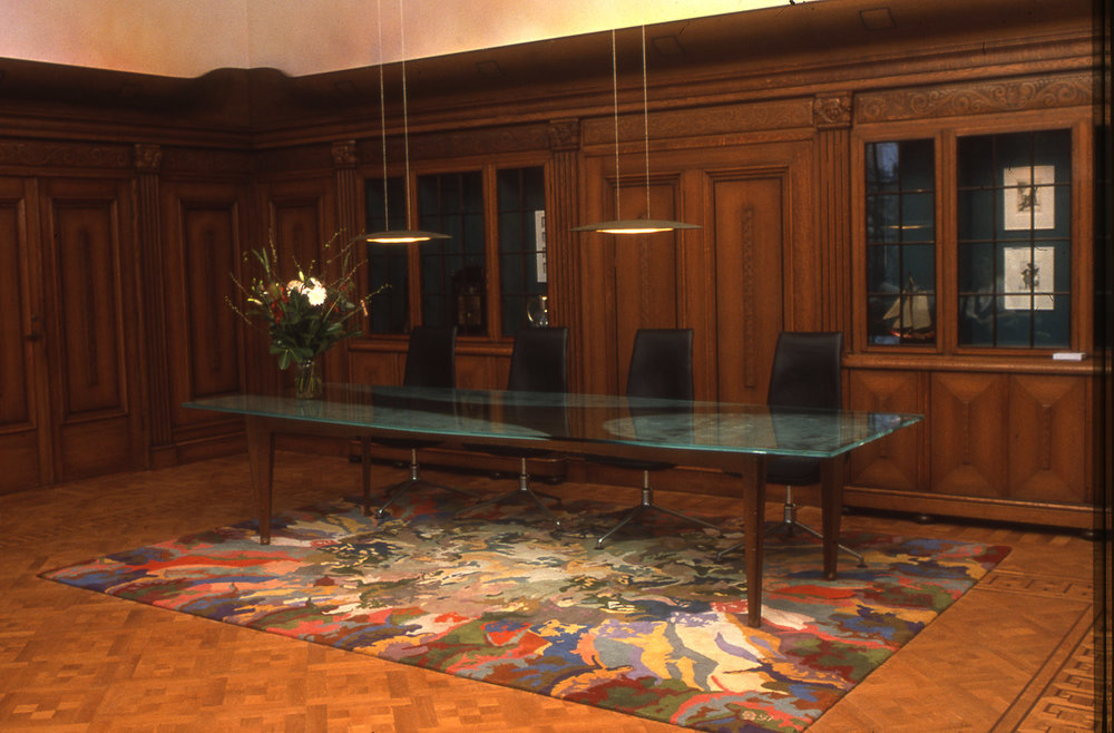 After Rubens, handtufted carpet for the boardroom, 350 x 500 cm