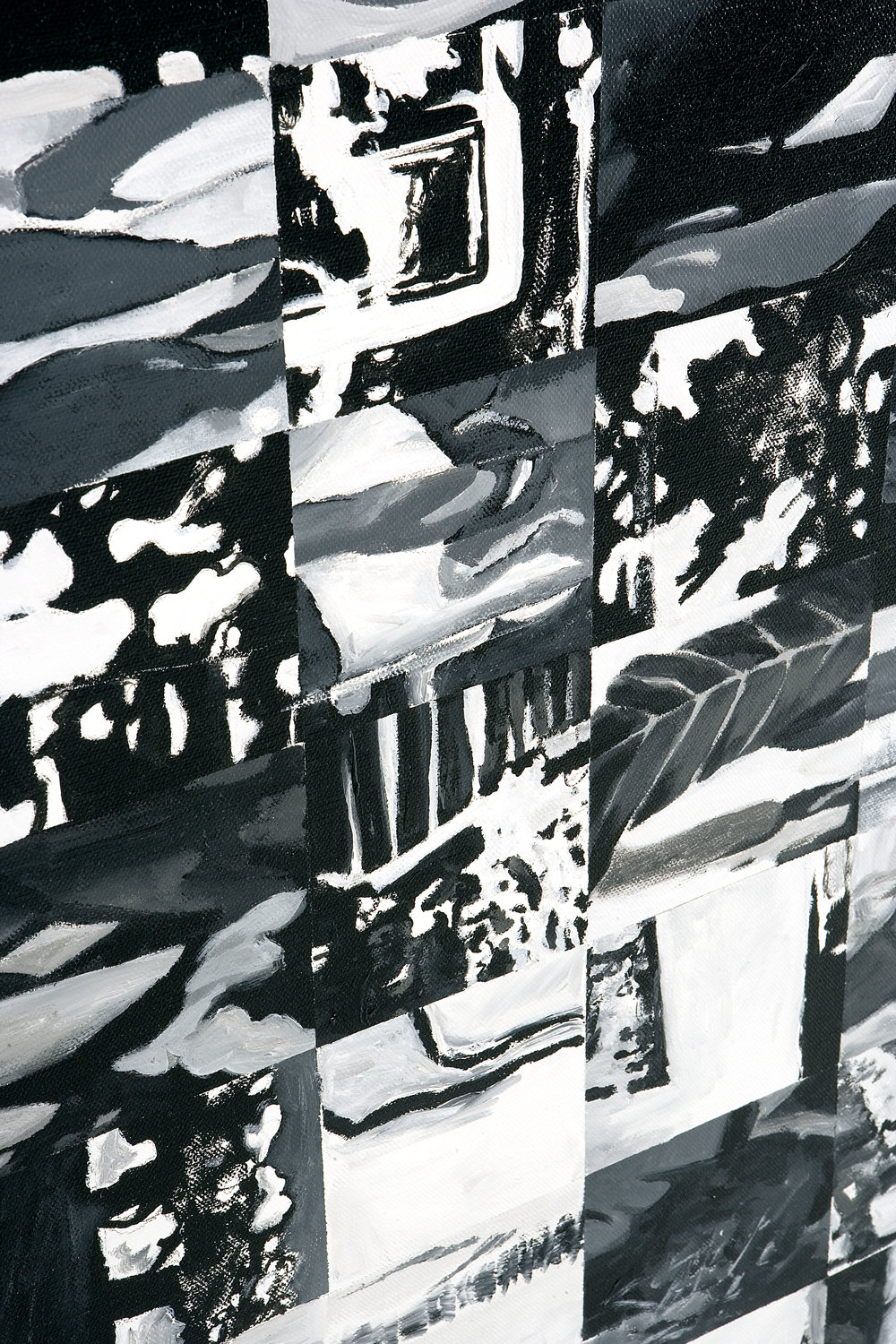 Nwe Herengracht, acryl on canvas, 2000, detail