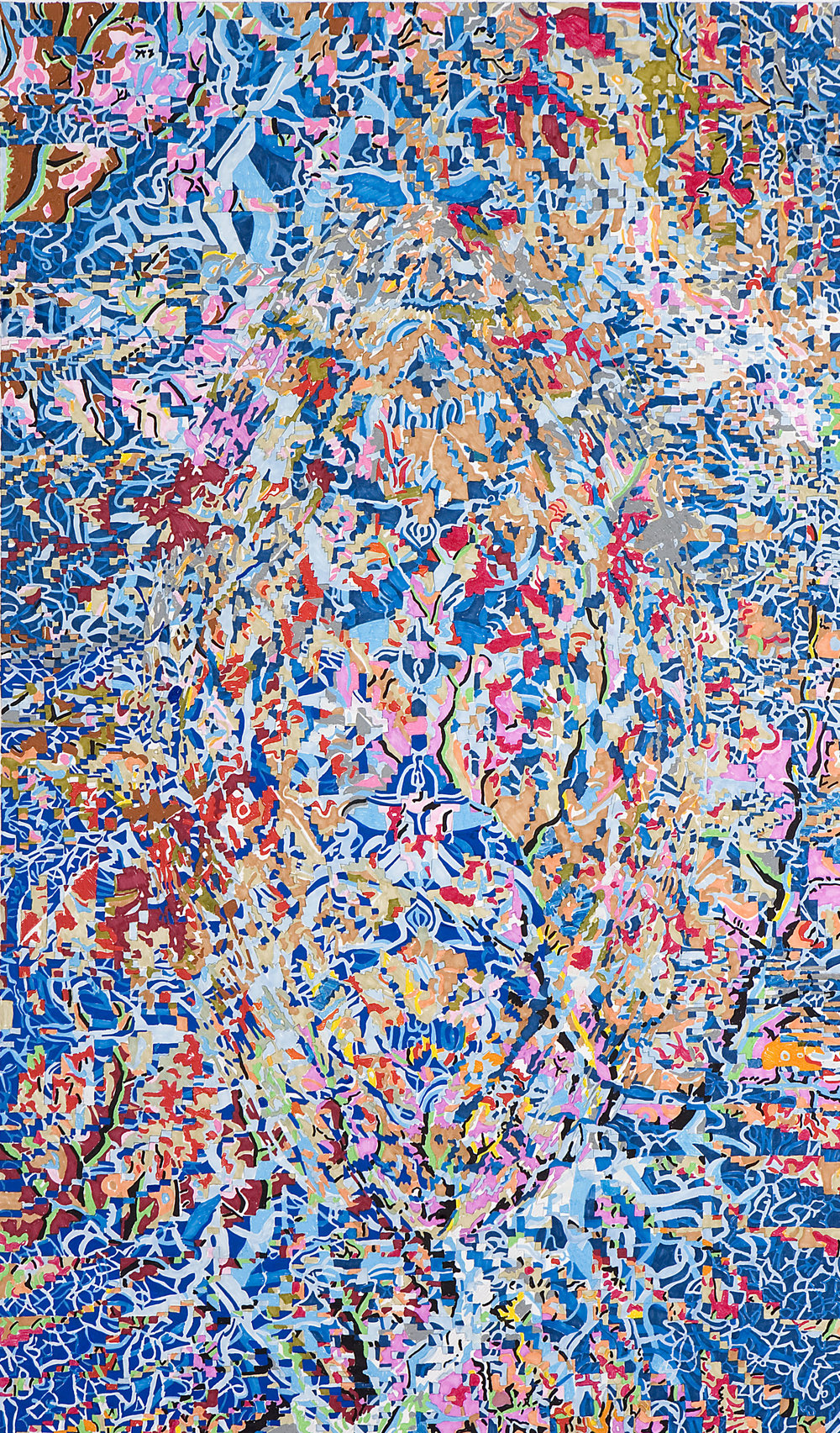 Design for the carpet, gouache on paper