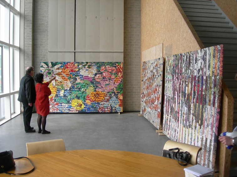 Presentation of the work to the client, Post CS Stedelijk Museum, 2006