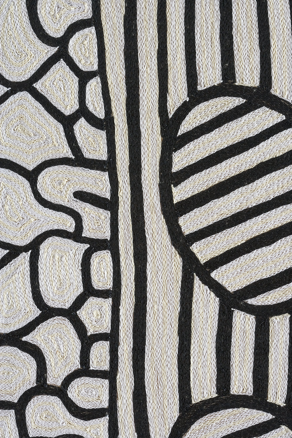 Cells 1, hand embroidered, detail