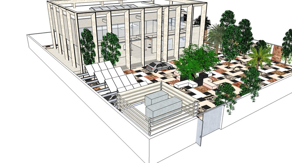 Design for the courtyard, artist impression