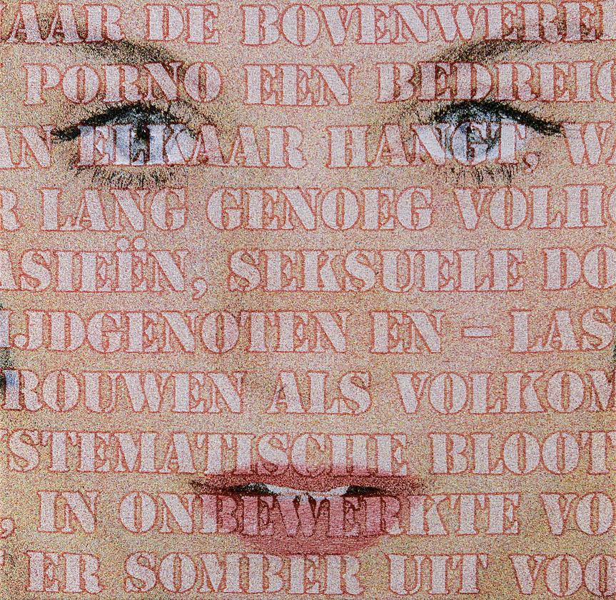 Open Mouths: no. 43 (Laura), Jacquard woven, 100 x 100 cm