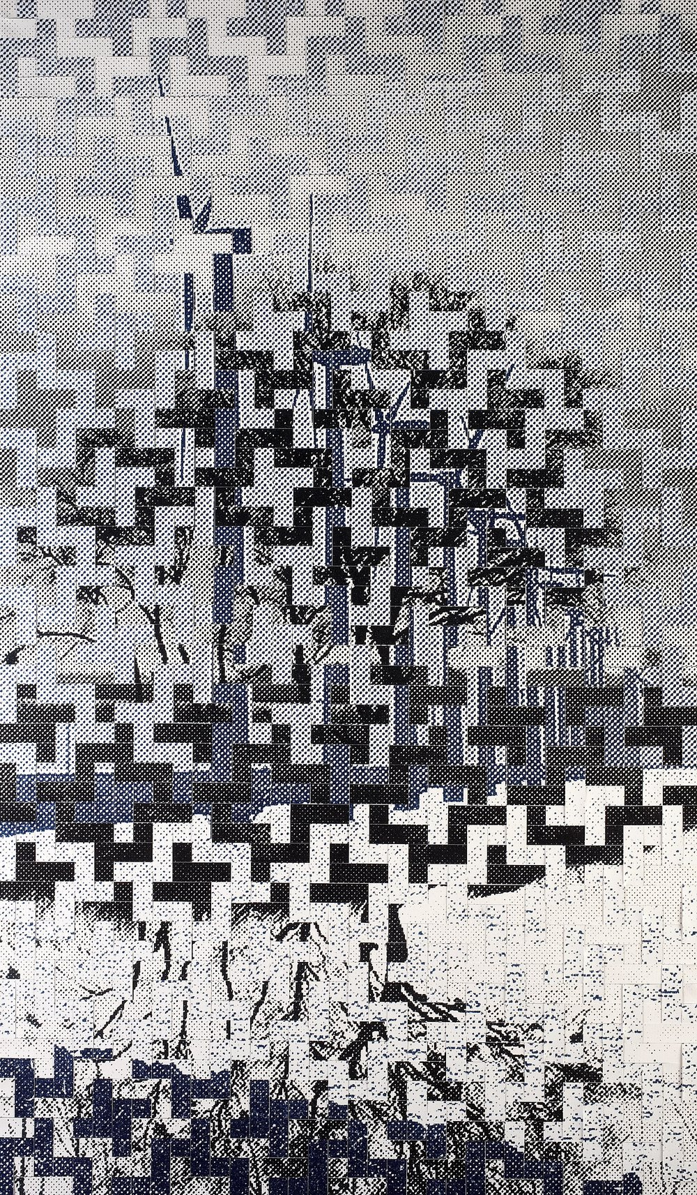 Dutch Landscapes: no. 1. Printed, woven canvas, 250 x 150 cm