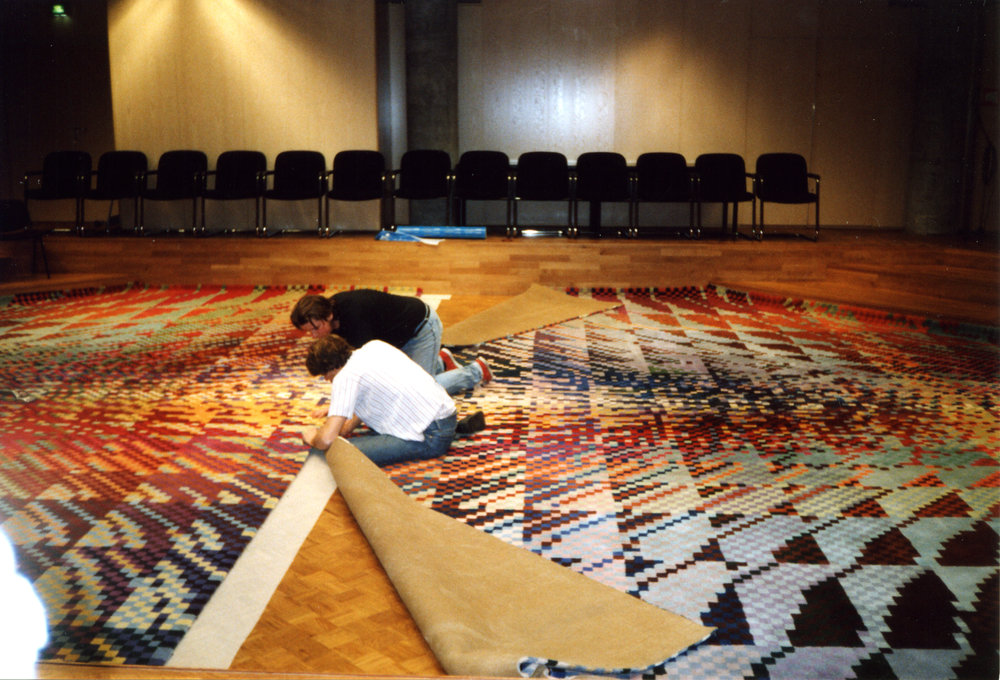 Installation of the carpet