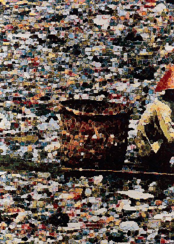 Vietnam, jacquard doublewoven, 205 x 148 cm