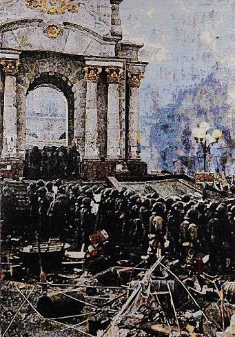 Kiev, jacquard doublewoven, 205 x 148 cm