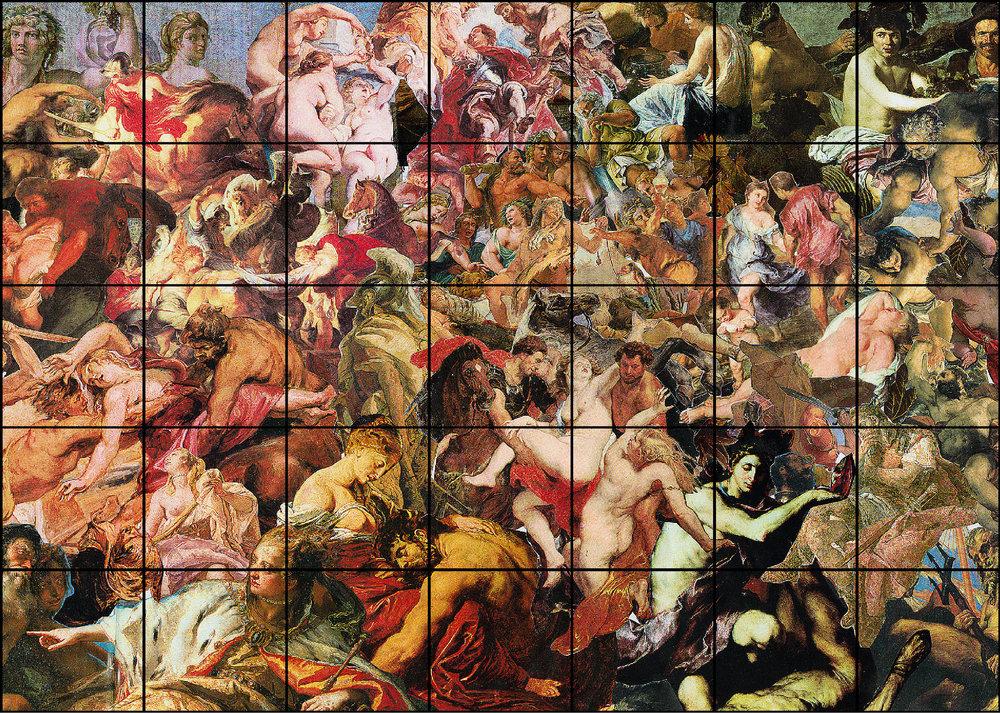 Evil no. 1 - 35, jacquard woven, 35 panels of 60 x 61 cm, 2010