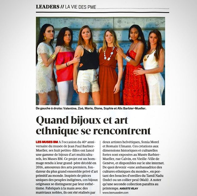 🔥 They talk about us! 🔥  We are very excited to be featured in this week's @magazinebilan - the premiere French-language publication in Switzerland! 🇨🇭