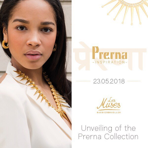 We are thrilled to announce the official launch of our new #jewellery line - Prerna - whose wonderful pieces are inspired by unique ethnic Indian jewels from the #BarbierMueller collection. The jewellery in the #PrernaCollection draws on a flourishing ancestral tradition of spirituality and energy, and has been designed and hand-crafted in India, in partnership with the firm @estaa__.  The event will take place on Wednesday, May 23rd, 2018 in the courtyard of the @museebarbiermueller in #Geneva, starting 6pm!  Be ready to travel 💛☀️💛