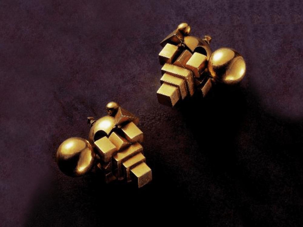 ....Thandatti ear ornaments, Tamil Nadu, 19th and 20th centuries ..Ornements d'oreilles thandatti, Tamil Nadu, XIXe-XXe siècle ....