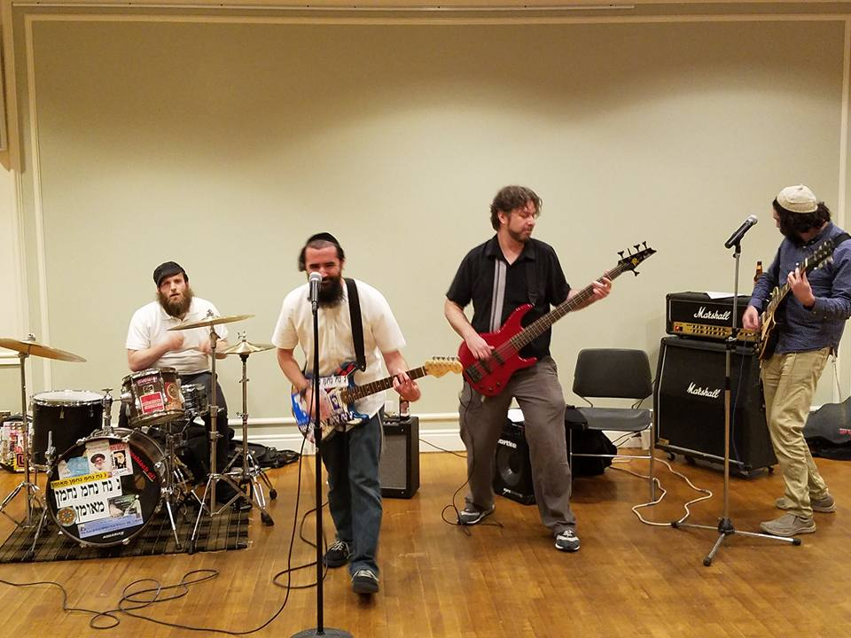 Moshiach Oi! performing at the book release party for   Oy Oy Oy Gevalt! Jews and Punk   at Town & Village Synagogue in New York (June 2016) Photo by Michael Shields