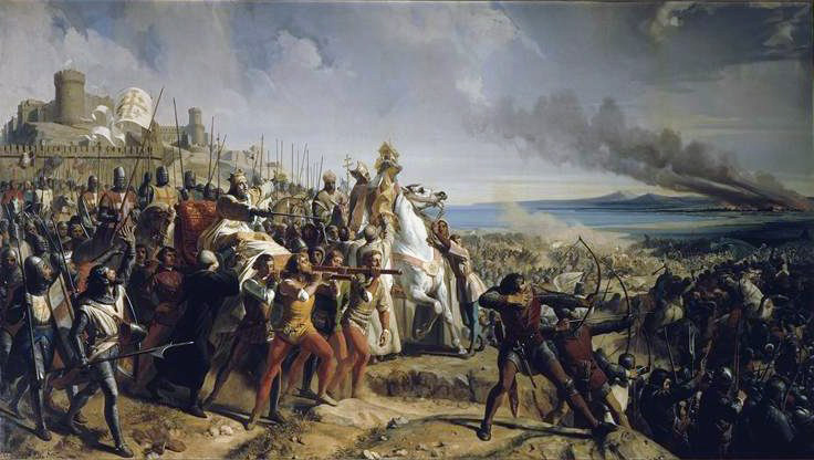Depiction of Crusaders attacking Jerusalem in 1177.