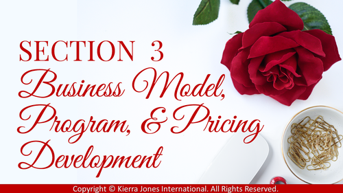 You'll use my profitable program development blueprints & personalized feedback to confidently &  profitably design your first signature services, programs, & speaking/training products & develop your very own unique framework  that helps build your credibility & delivers the transformation your clients need so they become raving fans!