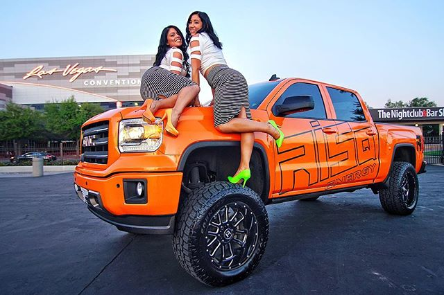 Big trucks, hot girls, and a weekend in Vegas. Top that! #PartyWithUs