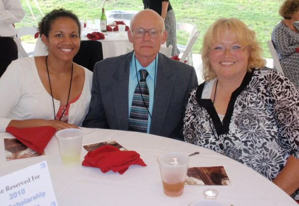 My mom and grandpa always encouraging and supporting. Here we are at the Wayne County Foundation awards dinner.