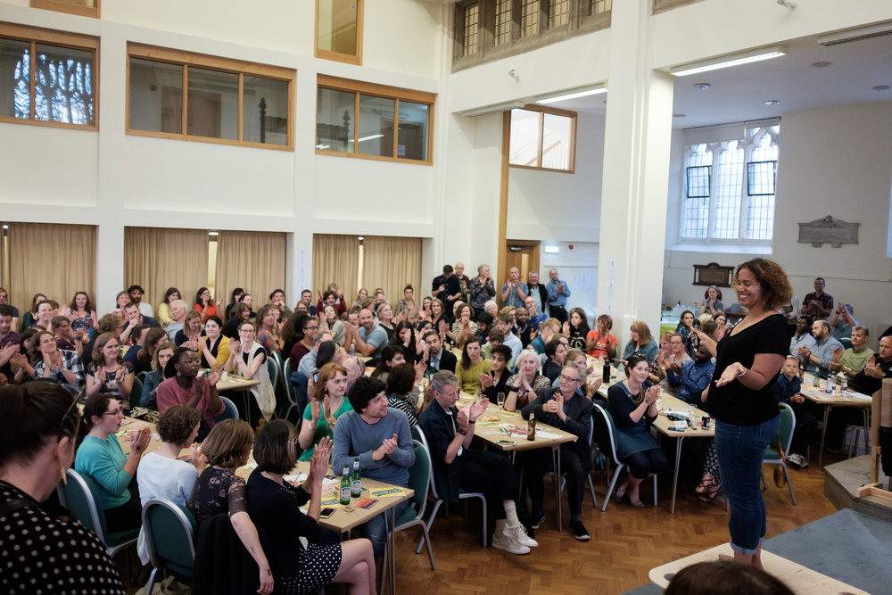 Just some of the village supporting me at  Sheffield Soup . Photo by  Chris Bentley