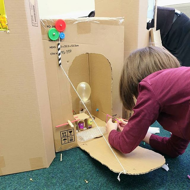 We love Maker Camps. Young people create their inventions over a day using their 'imagienashian' 💛 we still have spaces left next week. Check our events.