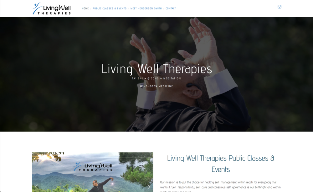 A Website designed by Visual Cloud Productions for Living Well Therapies