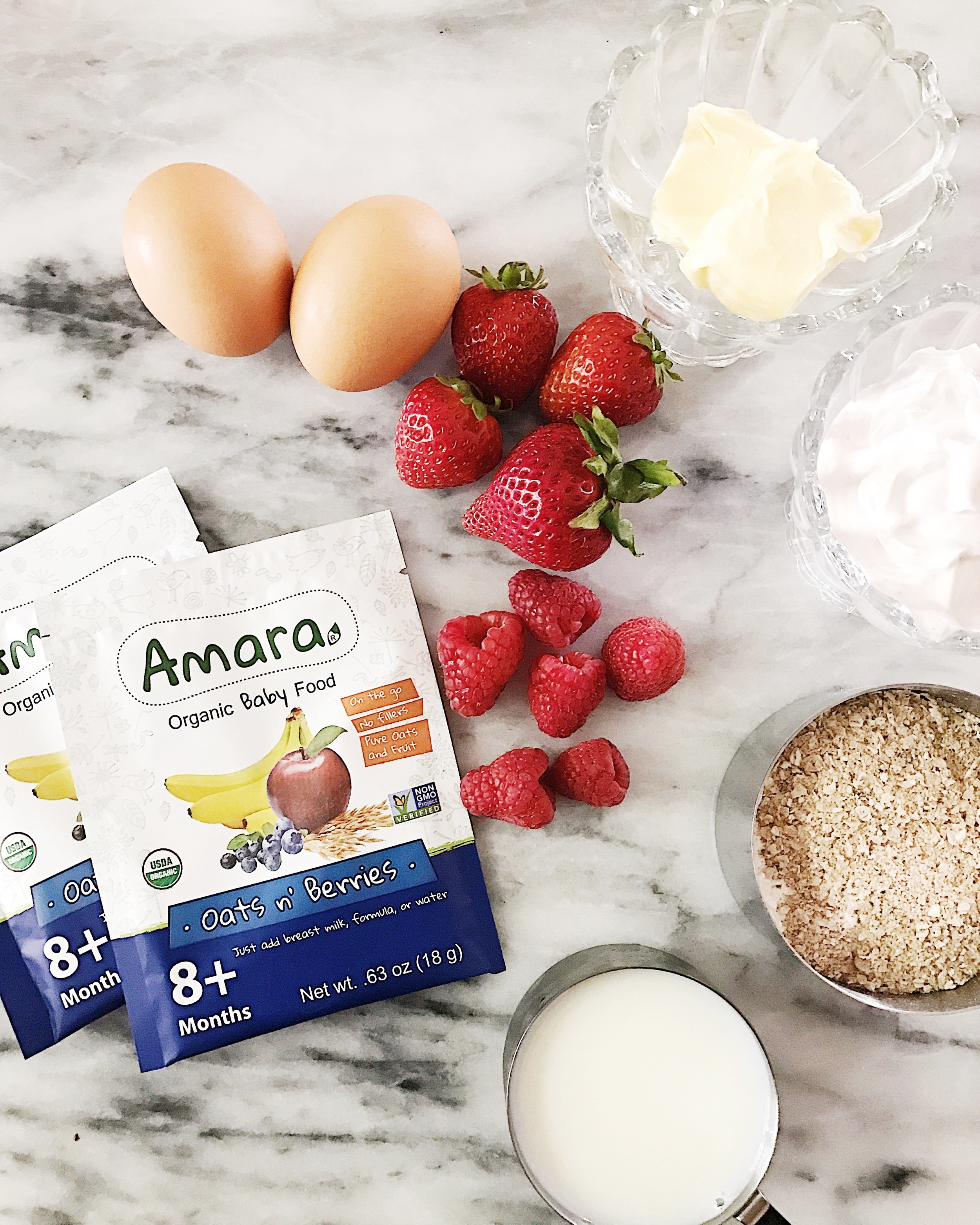 Organic Oats n Berries Crepe Recipe - Cooking with Amara Baby Food