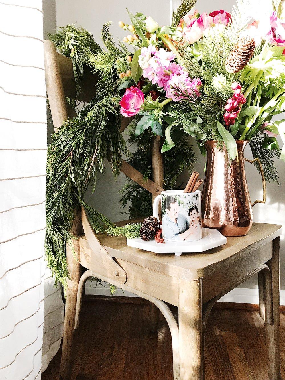 holiday decor wreaths personalized custom mugs