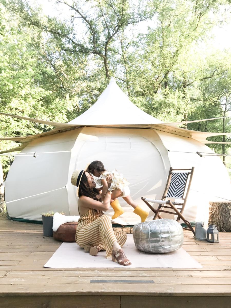 comfortiva amber sandal summer glamping yurt joyfullygreen