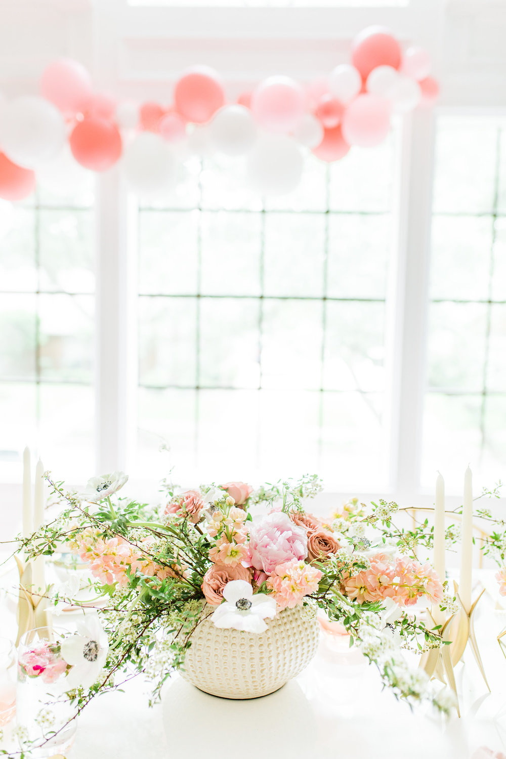 Olivia and Oliver Gold, Blush and Greenry Plants Gilded Garden Styled Bridal Shower Brunch with Bed Bath Beyond organic flower bouquet blush and gold bridal shower Joyfullygreen.jpg
